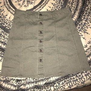 Mossimo Sz 10 High waisted button skirt NWOT